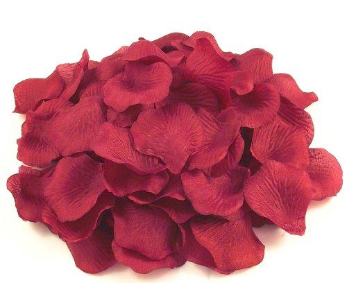Mveezz Billes d'imitation-Rouge profond de 200 pétales de Rose en soie pour décoration de Table Confetti de fête de fleurs