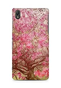 Amez designer printed 3d premium high quality back case cover for Sony Xperia Z2 (Flower spring art illust happy)