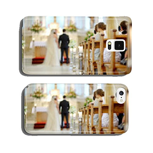 Beautiful candle wedding decoration in a church cell phone cover case iPhone5