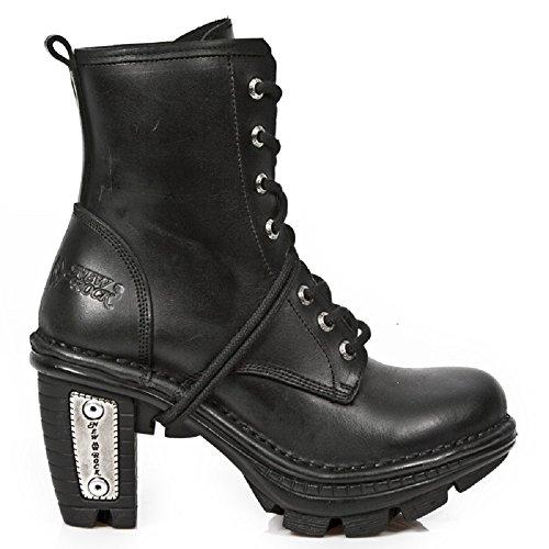 Stivali in pelle NEWROCK New Rock NEOTR008 -S1 nero dell'annata della roccia punk donna 41