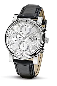 Philip Men's Wales Chronograph Watch R8241693015 with Automatic Movement, White Dial and Stainless Steel Case