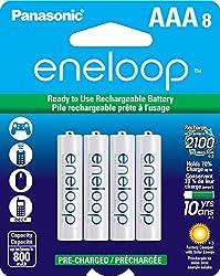PANASONIC BK-4MCCA8BA eneloop(R) Batteries (AAA; 8 pk)