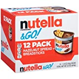 Nutella Ferrero Go Hazelnut Spread and Breadsticks 22oz ( 12 packs )