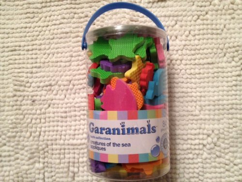 Garanimals Bathtub Fun Sea Animal-84 Pc Set of 7 Different Marine Creatures in Different Colors and Textures