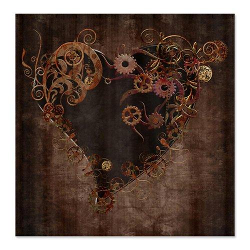 CafePress Steampunk Heart Shower Curtain - Standard White
