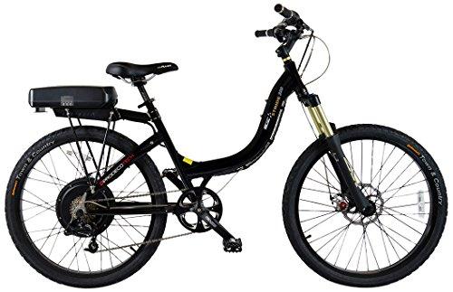 Prodecotech V3.6 Stride 500 36V 500W 8 Speed 16Ah Li Ion Electric Bicycle, Black Pearl Metallic Gloss, 26-Inch/One Size
