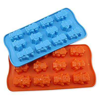 Candy Making Molds, 2PCS YYP [12 Cavity Robot Shape Mold] Silicone Candy Molds for Home Baking - Reusable Silicone DIY Baking Molds for Candy, Chocolate or More, Set of 2