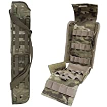 "Ultimate Arms Gear Tactical 29"" Crye Precision Licensed Multicam Multi Cam Camo Camouflage Molle Scabbard For Saiga / Browning / Beretta / Benelli 12 Gauge Shotgun + Tactical Multicam Molle 25 Shot Shell Ammunition Ammo Reload Carrier Pouch For 12 Gauge Shotgun Rounds"