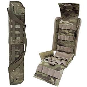 """Ultimate Arms Gear Tactical 29"""" Crye Precision Licensed Multicam Multi Cam Camo Camouflage Molle Scabbard For Winchester 1200 / 1300 / Super X SXP X3 12 Gauge Shotgun + Tactical Multicam Molle 25 Shot Shell Ammunition Ammo Reload Carrier Pouch For 12 Gauge Shotgun Rounds"""