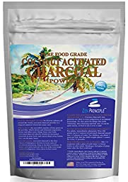 Ultra-Premium Coconut Activated Charcoal Powder. Whitens Teeth, Rejuvenates Skin. Ideal for Detox or Accidental poisoning. USA-Owned Producers, Tested Pure and Safe. Food Grade. FREE scoop!