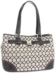 Nine West 9s Jacquard Shopper Satchel Handbag