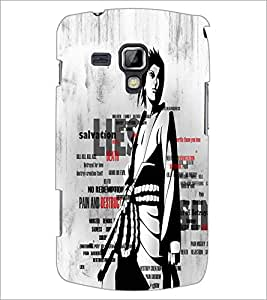 Printdhaba Typography D-2676 Back Case Cover For Samsung Galaxy S Duos S7562