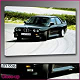BMW M3 1987 Black Framed Ready To Hang Canvas by whatsonyourwall, Cars Wall Art Sizes from 8