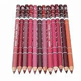 Generische 12 Farben Professionelle Lipliner Wasserdichte Lip Liner Lippenstift Lippenkonturenstift