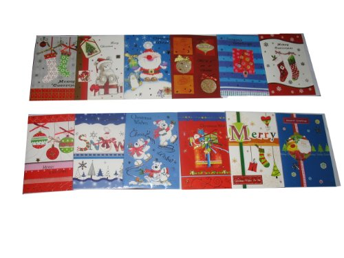 25-Pack Assorted Handmade Christmas Greeting