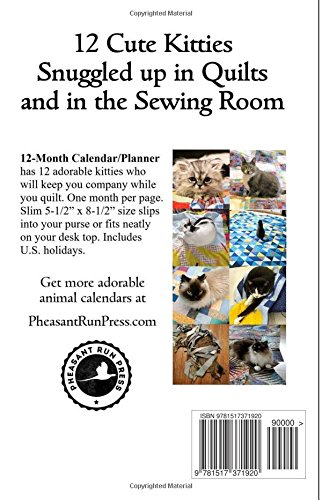 Cats and Quilts 2016 Monthly Calendar: Volume 4 (2016 Animal Calendars)