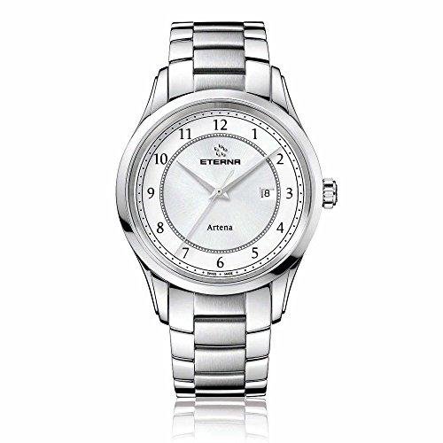 Eterna 2520.41.64.0274 - Reloj de pulsera hombre, acero inoxidable, color plateado