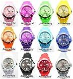 Herrenuhr Damenuhr HOT Silikon Uhr Uhren L (Breit) 4,3 cm mit Datum Trend Watch Style Sport - Verfügt über Luxuriöse Geschenktüte von AccessoriesBySej - Von AccessoriesBySej TM