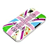 Samsung Galaxy Ace 1 S5830 S5830i Housse Portable Coque Poche �tui Dur Dos Hard Case Motif Keep Calm and Carry On color�
