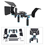 DSLR Movie Video Making Rig Set System Kit for Camcorder or DSLR Camera Such as Canon Nikon Sony Pentax Fujifilm Panasonic,include:(1)Shoulder Mount+(1)15mm Rail Rod System+(1)Matte box