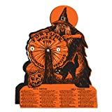 Beistle Witch Fortune Wheel Game, 9-1/4-Inch by 6-3/4-Inch