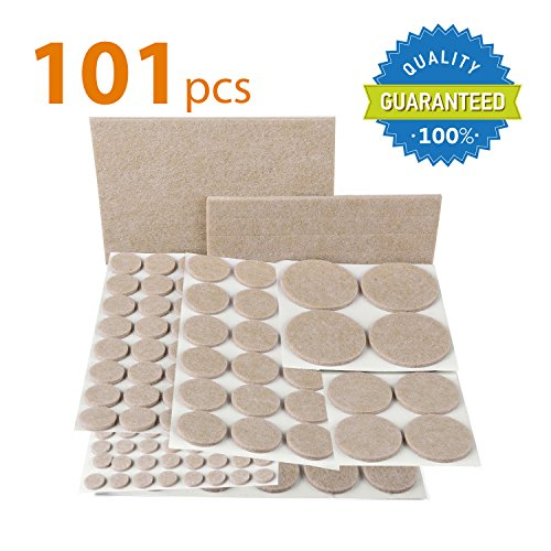 X-PROTECTOR PREMIUM Furniture Pads 101 piece! Furniture Feet Felt Pads - Your Best Value Pack Wood Floor Protectors. Protect Your Hardwood & Laminate Flooring with 100% Satisfaction! (Feet Felt compare prices)