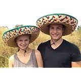 Sombrero - 2er Pack, Bunt, Mexikohut, Mexikanerhut, Poncho, Sombrero-Set