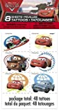 Disney Cars Party Favors Color Tattoos 8 Sheets (48 Tattoos)