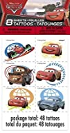 Cars Temporary Tattoos 8 sheets