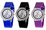 Addic combo of Three Love Heart Women's Watches