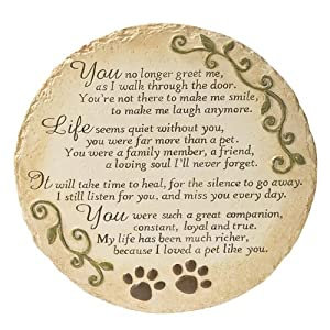 Ganz Pet Memorial Bereavement Stepping Stone