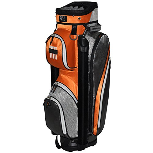rj-sports-manhattan-cart-bag-grey-orange-9-inch