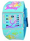 THE ONE Binary Ladies Slim Square Binary Watch SLS136B3 with Multicolour Dial