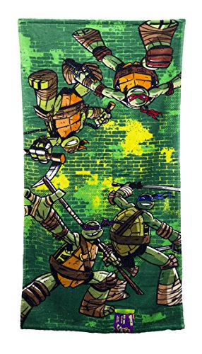 "Nickelodeon Ninja Turtles ""Green Brick"" Bath Towel - 1"
