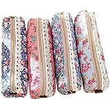 Retro Flower Floral Lace Pencil Pen Case Cosmetic Makeup Bag Zipper Pouch Purse