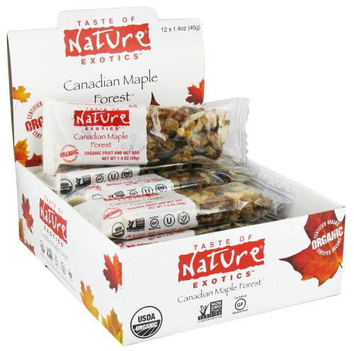 Taste Of Nature - Organic Fruit And Nut Bar Canadian Maple Forest - 1.4 Oz.