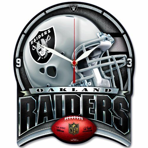 NFL Oakland Raiders High Definition Clock