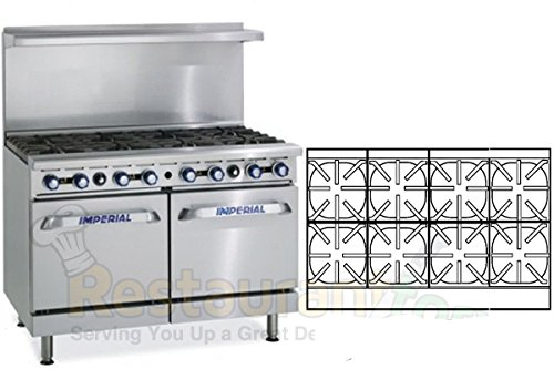 Imperial Commercial Restaurant Range 2 Standard Oven 8 Burners Propane Model Ir-8