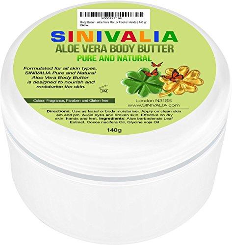 Burro per il corpo - Idratante all'aloe vera per pelle secca del viso e del corpo o capelli danneggiati | Prodotto anti-age per la cura della pelle dei piedi o delle mani | 140 gr.