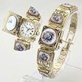 MARINOFF Women's Handpainted Limited Edition Russian Artisan Locket Watch. Model: MAR-PK-450