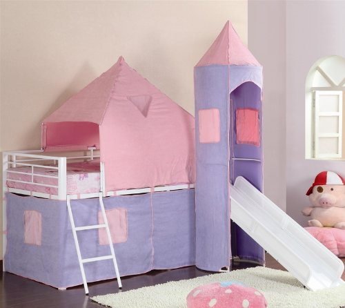 Castle Styled Twin Loft Bed   coaster 460279 Review   bunk bed