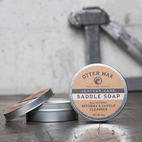 saddle soap all natural leather cleaner by otter wax 5oz tin home garden household supplies. Black Bedroom Furniture Sets. Home Design Ideas