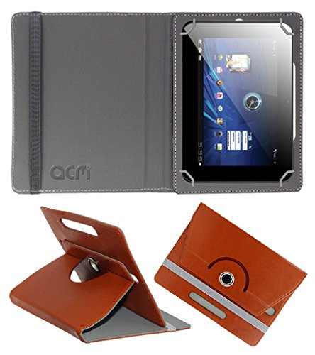 Acm Rotating 360° Leather Flip Case For Karbonn Smart Tab 3 Blade Tablet Cover Stand Brown  available at amazon for Rs.149