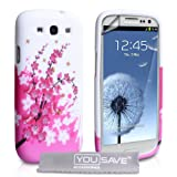 Yousave Accessories Floral Bee Silicone Cover Case with Screen Protector for Samsung Galaxy S3by Yousave Accessories