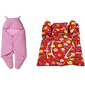 RSO BABY WRAP & BABY BEDDING SET 4 PIECE-COTTON - B01HRWIRLW