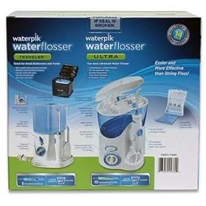 waterpik waterflosser ultra and waterpik traveler flosser plus 12 accessory tips. Black Bedroom Furniture Sets. Home Design Ideas
