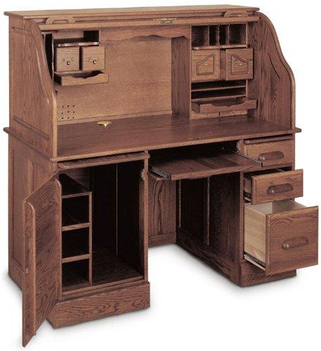 Buy Low Price Comfortable Solid Wood Computer Roll Top Desk GBA020 (B000UZ4VF0)