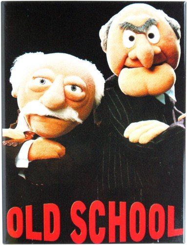"Kühlschrank Metall Magnet 6x8 cm ""Old School-The Muppets"" Nostalgie Tin Sign EMAG83"