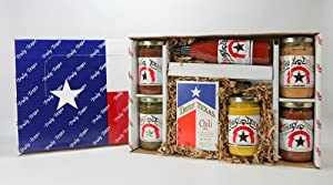 Whole Lotta Texas Salsa Queso Chili Hot Sauce Gift Box - Truly Texas from Double T Gourmet Foods