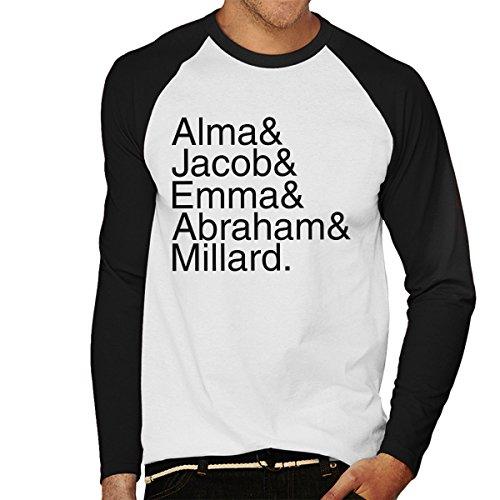 Character Names Miss Peregrine's Home for Peculiar Children Men's Baseball Long Sleeved T-Shirt
